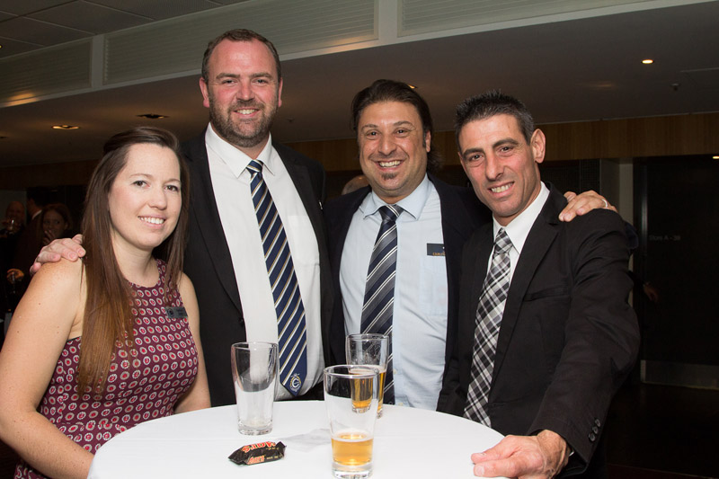 (From left) Nadine Smith & Shane Weaver from GOLD 104.3 together with Carltonian Alex Noto and guest Joe Mazzeo.