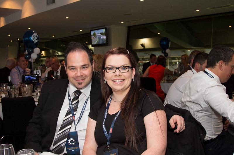 Anthony Debetta from Essendon Hyundai with wife Krystal