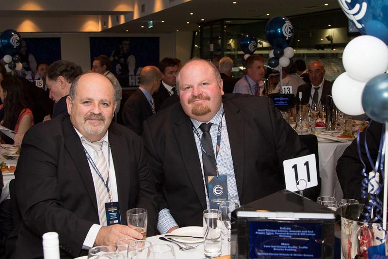 Essendon Hyundai's Phil Caruso with his brother-in-law Darren