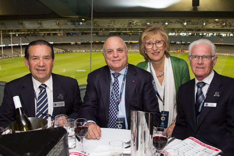 Carltonians for over 30 years!!! - Santo Zappulla (far left) with his guest & Paul Scodella (far right) with wife Maria.